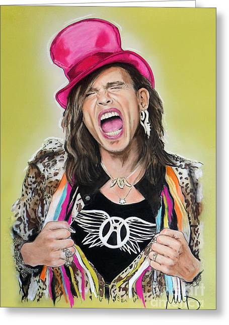 Steven Tyler 2 Greeting Card by Melanie D