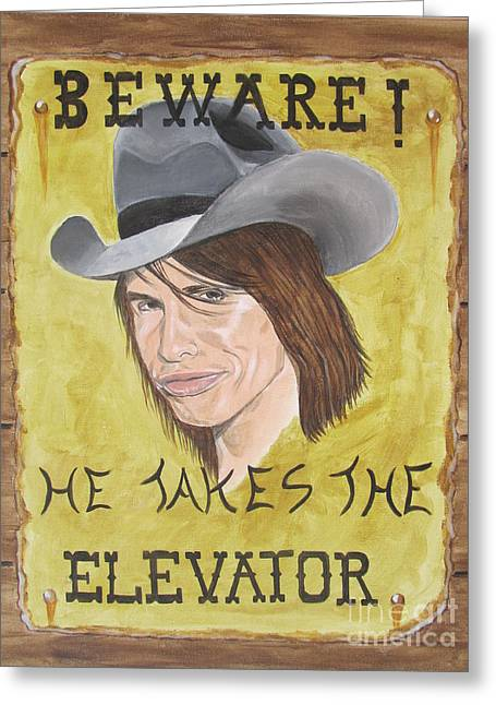 Steven Tyler As A Cowboy Greeting Card by Jeepee Aero