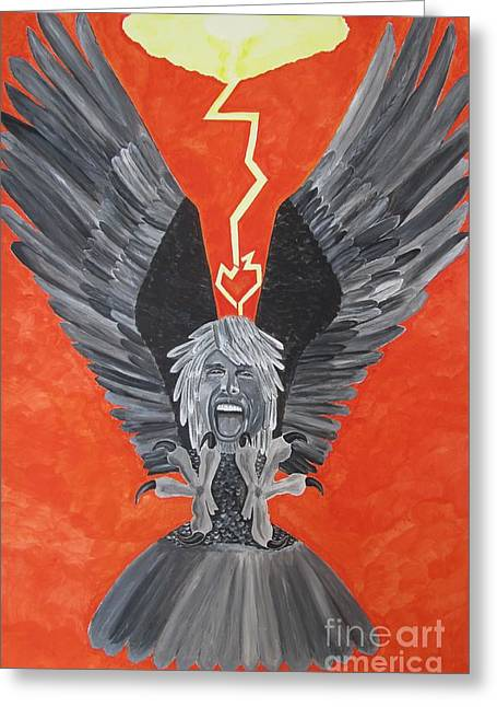 Steven Tyler As An Eagle Greeting Card by Jeepee Aero