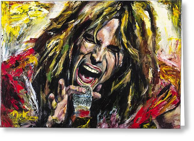 Best Sellers -  - Popular Art Greeting Cards - Steven Tyler Greeting Card by Mark Courage