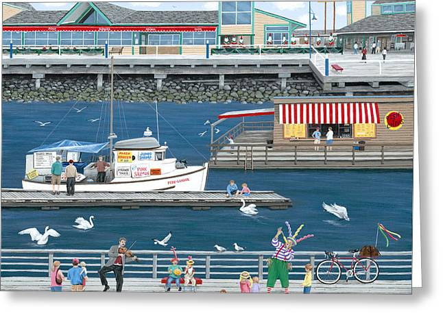 Steveston Landing Greeting Card by Wilfrido Limvalencia