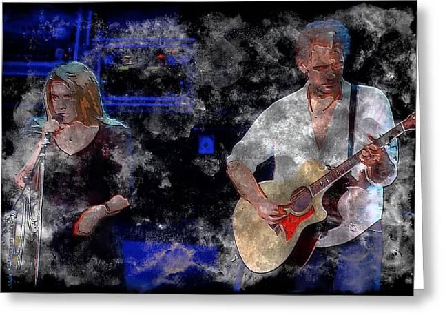 Mac Digital Music Greeting Cards - Stevie And Lindsey Greeting Card by John Delong