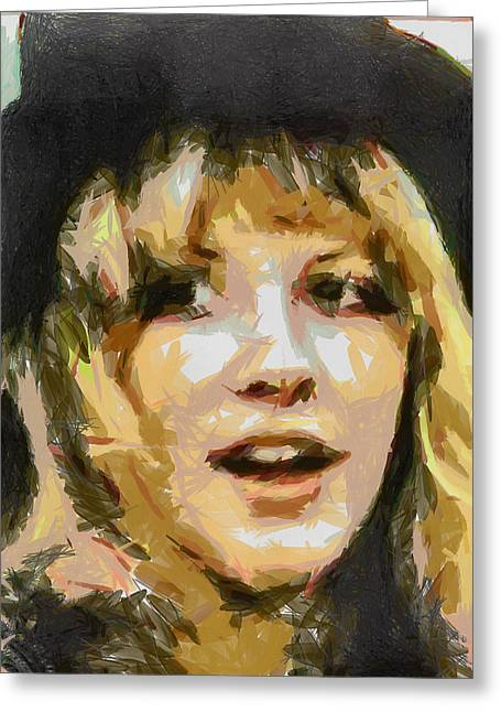 Bella Donna Greeting Cards - Stevie Greeting Card by Leapdaybride