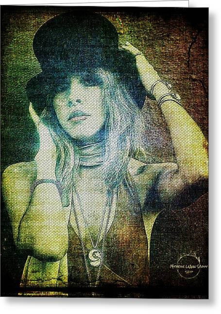 Recently Sold -  - Gypsy Greeting Cards - Stevie Nicks - Bohemian Greeting Card by Absinthe Art By Michelle LeAnn Scott