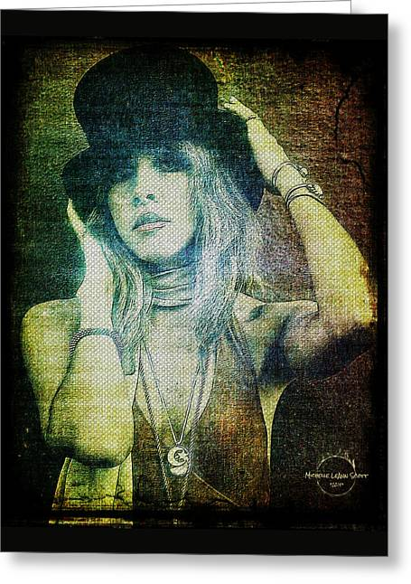 Stevie Nicks - Bohemian Greeting Card by Absinthe Art By Michelle LeAnn Scott