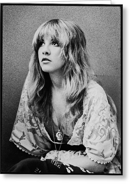 Pop Singer Greeting Cards - Stevie Nicks Greeting Card by Nomad Art And  Design