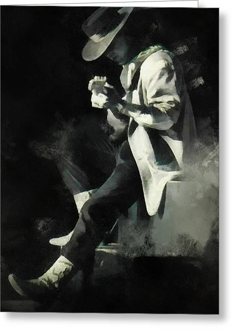 Sweat Digital Art Greeting Cards - Stevie Ray Greeting Card by Paulette B Wright