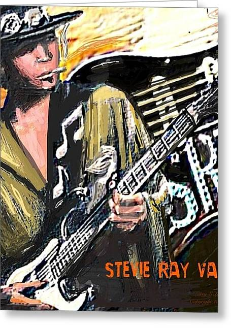 Austin ist Digital Greeting Cards - Stevie Ray Vaghn Greeting Card by Larry E Lamb