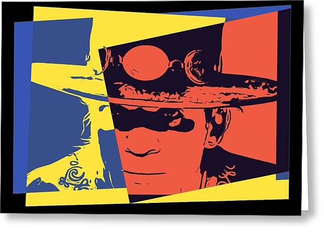 Live Music Mixed Media Greeting Cards - Stevie Ray Vaughan Pop Art Greeting Card by Dan Sproul