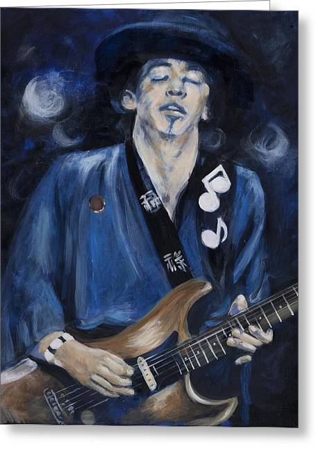 Water Bodies Of Texas Greeting Cards - Stevie Ray Vaughn Greeting Card by Greg Kopriva