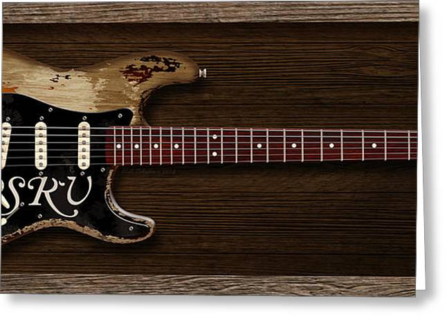 Wb Johnston Greeting Cards - Stevies Strat Greeting Card by WB Johnston