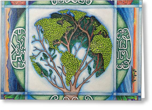Four Greeting Cards - Stewardship of the Earth Greeting Card by Arla Patch