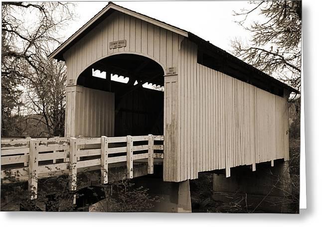 Historic Bridge Photographs Digital Greeting Cards - Stewart Bridge Greeting Card by Kirt Tisdale