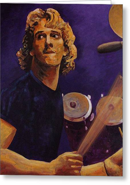 Stinging Greeting Cards - Stewart Copeland - The Police Greeting Card by John  Nolan