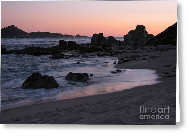 Point Lobos State Greeting Cards - Stewarts Cove at Sunset Greeting Card by James B Toy