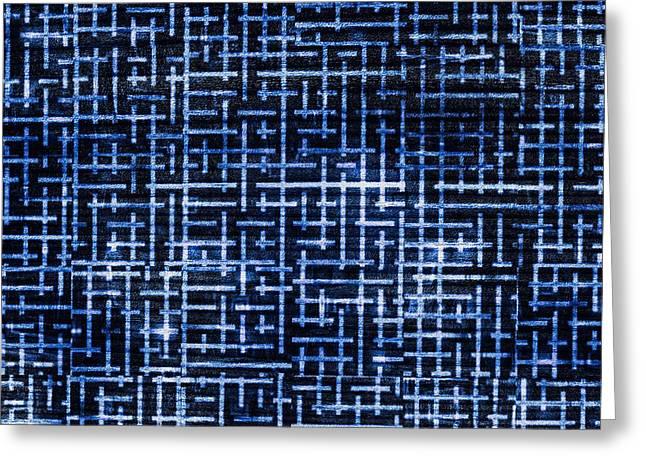 Woodgrain Greeting Cards - Stick Labyrinth Greeting Card by Hakon Soreide