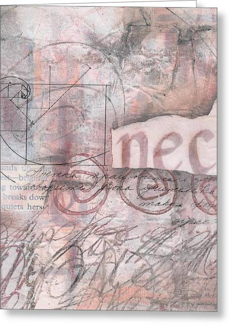 Mixed Media Collages Greeting Cards - Sticking your Neck o Greeting Card by Laura  Lein-Svencner