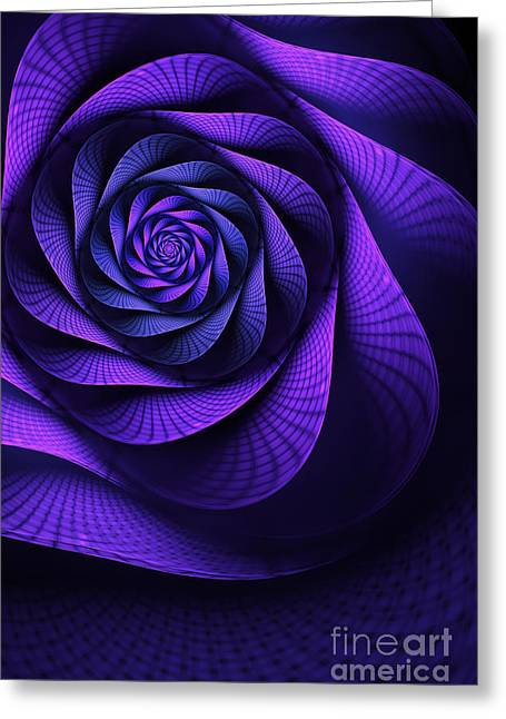 Abstract Digital Digital Greeting Cards - Stile Floreal Greeting Card by John Edwards