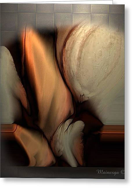 Still Abstract Greeting Card by Ines Garay-Colomba