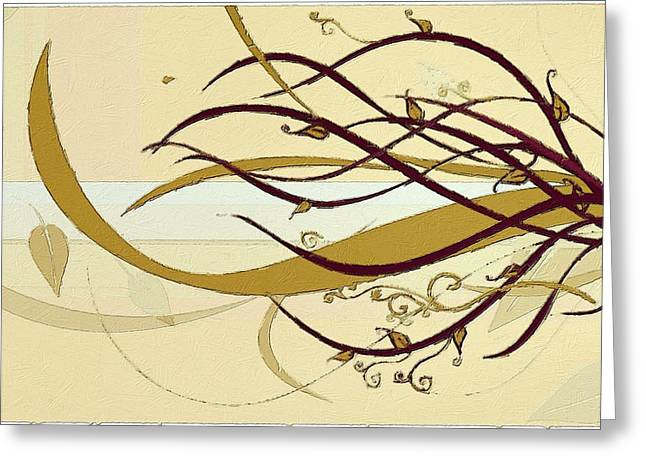 Pop Art Greeting Cards - Still Branches of Life Greeting Card by Florian Rodarte