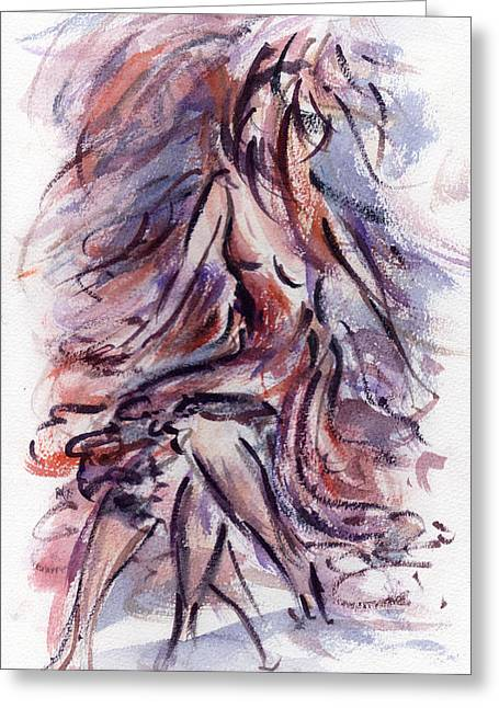 Strength Paintings Greeting Cards - Still Dancing Greeting Card by Rachel Christine Nowicki