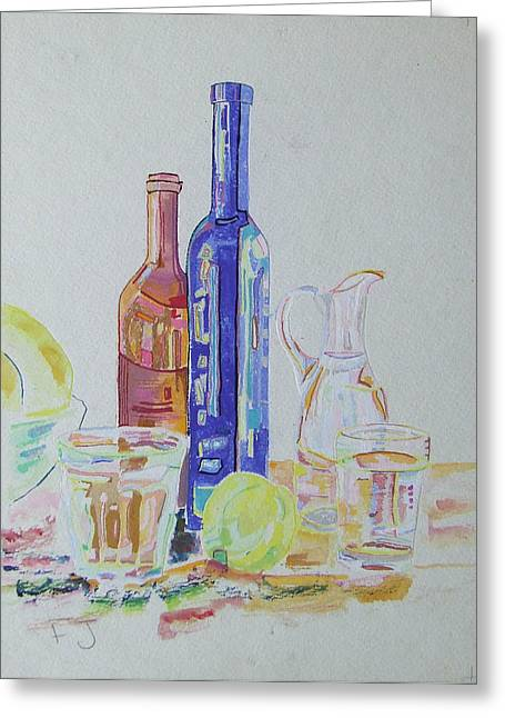 Mainly Blue Greeting Cards - Still Fresh Still Life  Greeting Card by Fanoulla  Sergiou