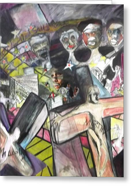 African American History Mixed Media Greeting Cards - Still I Rise Greeting Card by Joyce McEwen Crawford