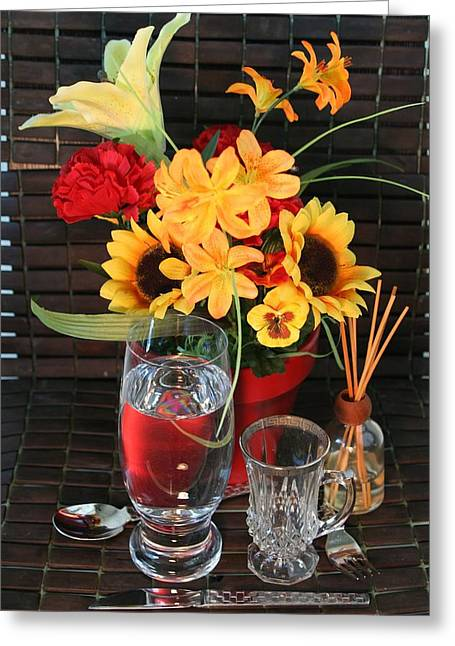Flower Still Life Pyrography Greeting Cards - Still Life 1 Greeting Card by Ralph Williams