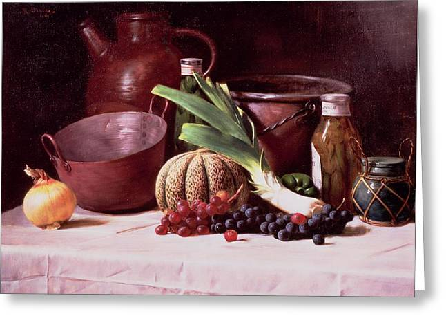 Melon Greeting Cards - Still Life, 1909 Greeting Card by Robert Schade