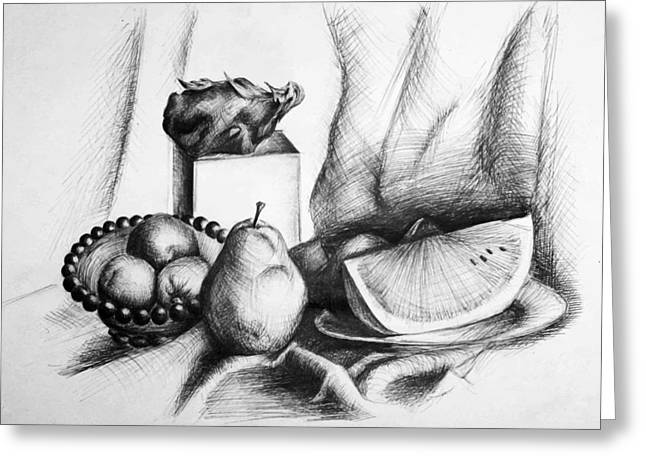 Recently Sold -  - Watermelon Greeting Cards - Still Life 2 Greeting Card by Alexandra-Emily Kokova