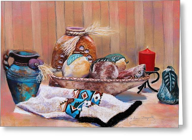 Jugs Pastels Greeting Cards - Still Life 2 Greeting Card by M Diane Bonaparte