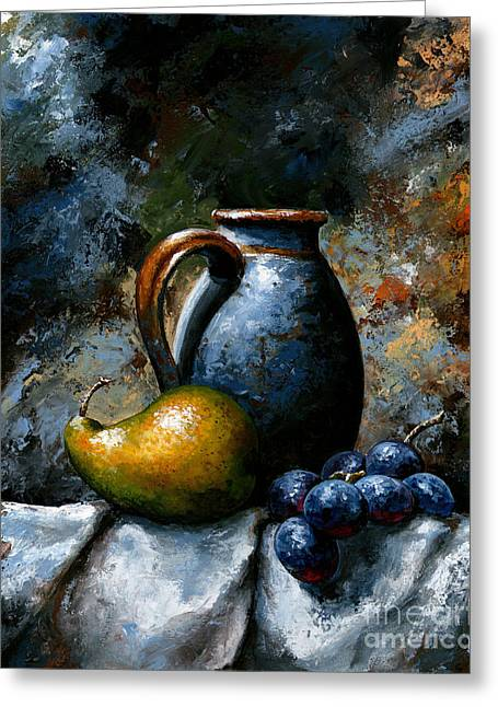 Grape Print Greeting Cards - Still life 24 Greeting Card by Emerico Imre Toth