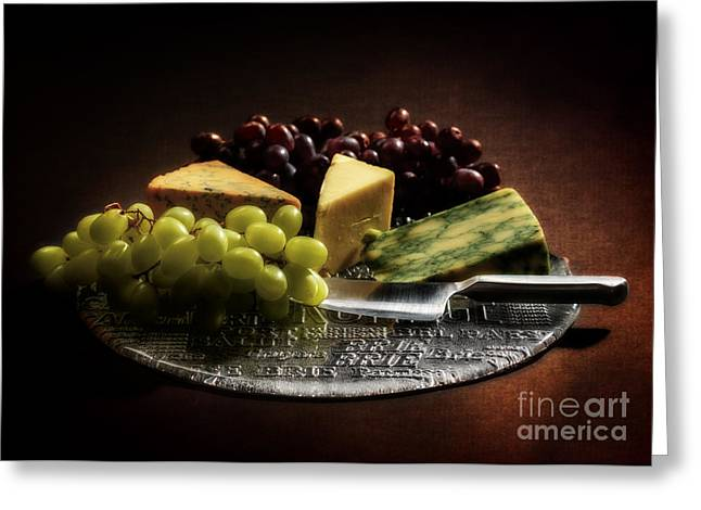 Blue Grapes Greeting Cards - Still Life Greeting Card by Amanda And Christopher Elwell
