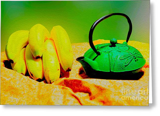 Oriental Teapot Greeting Cards - Still Life Greeting Card by Cassandra Buckley