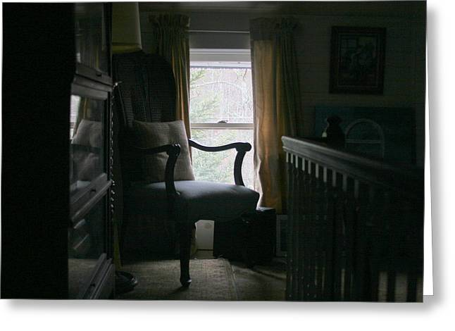 Still Life By Window Greeting Cards - Still Life Chair by Window Greeting Card by Paula Tohline Calhoun