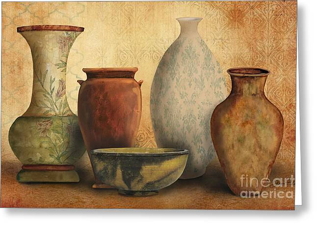 Vine Leaves Greeting Cards - Still Life-D Greeting Card by Jean Plout