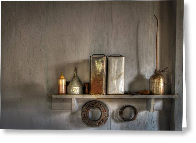 Main Street Greeting Cards - Still Life Greeting Card by Debra and Dave Vanderlaan