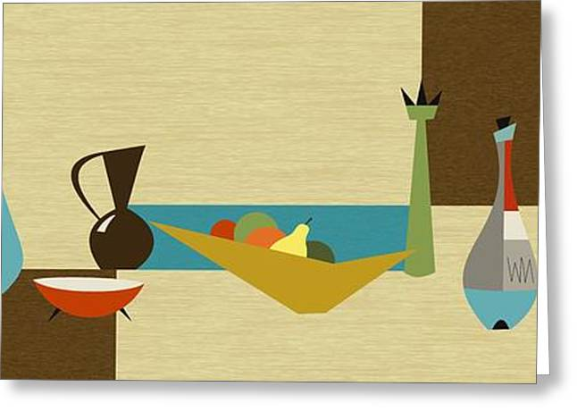 Decanters Digital Art Greeting Cards - Still LIfe Greeting Card by Donna Mibus