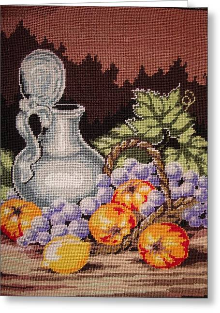 Orange Tapestries - Textiles Greeting Cards - Still Life Greeting Card by Eugen Mihalascu