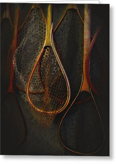 Cutthroat Greeting Cards - Still life - fishing nets Greeting Card by Jeff Burgess