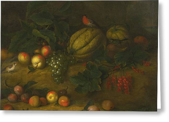 Still-life With Grapes Greeting Cards - Still Life Greeting Card by Celestial Images