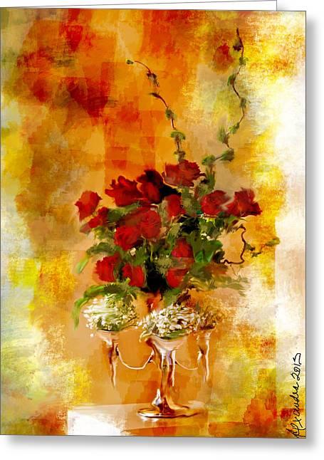 Interior Still Life Digital Greeting Cards - Still Life for Sir Uvedale Price   Greeting Card by Alexandra Jordankova