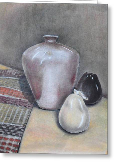Jugs Pastels Greeting Cards - Still life Greeting Card by Gala Ilchenco