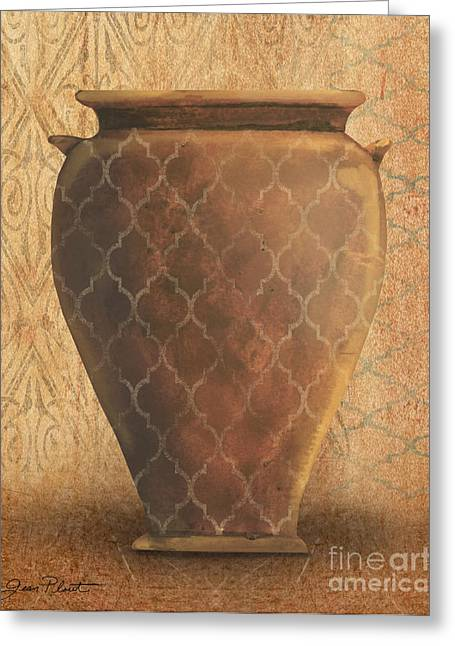Vine Leaves Greeting Cards - Still Life-IB Greeting Card by Jean Plout