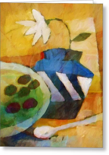 Artwork Flowers Greeting Cards - Still Life Impression Greeting Card by Lutz Baar