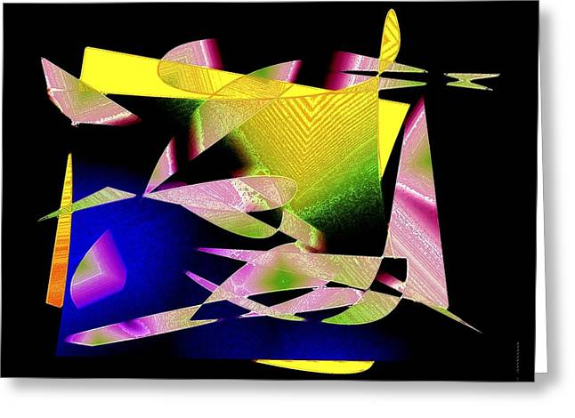 Transparency Geometric Greeting Cards - Still Life in Geometric Art Greeting Card by Mario  Perez