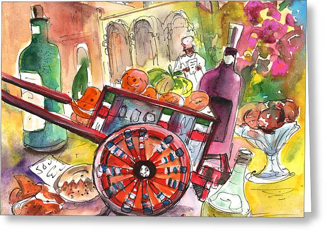 Plate Of Cookies Greeting Cards - Still Life in Taormina 02 Greeting Card by Miki De Goodaboom