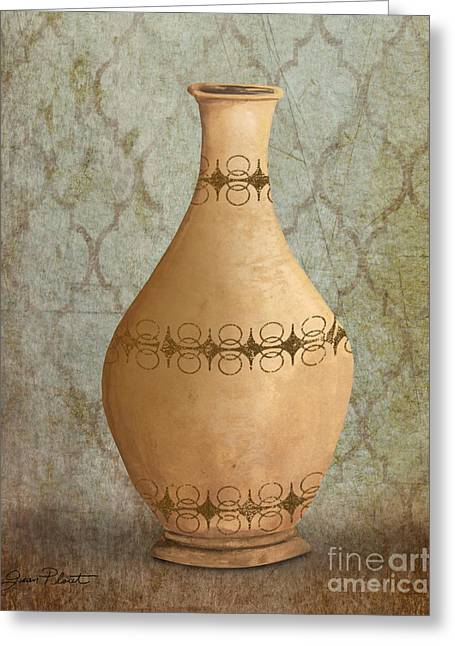 Pottery Pitcher Paintings Greeting Cards - Still Life-JA Greeting Card by Jean Plout