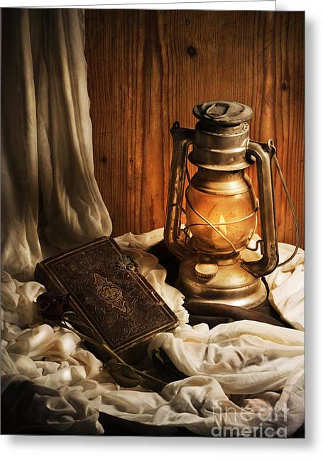 Night Lamp Greeting Cards - Still Life Greeting Card by Jelena Jovanovic