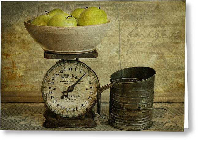 Scale Digital Art Greeting Cards - Still Life Greeting Card by Kathy Jennings